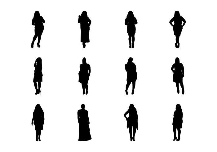 Gratis vet vrouwen silhouet vector