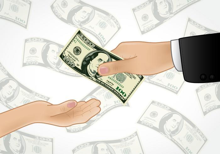 Geld geven vector