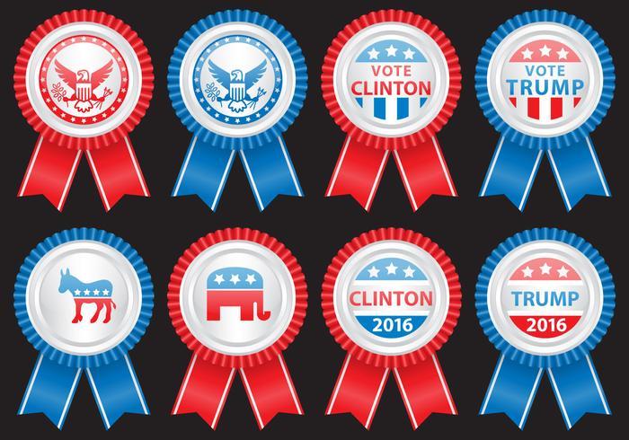 Verkiezingen Badges vector