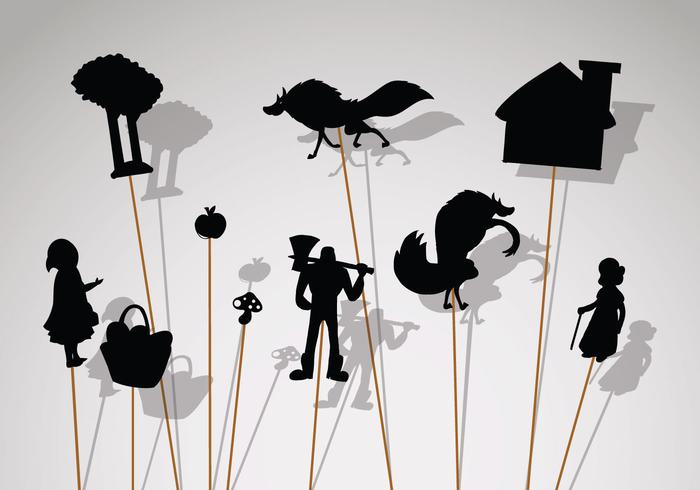 Gratis Shadow Puppet Icons vector