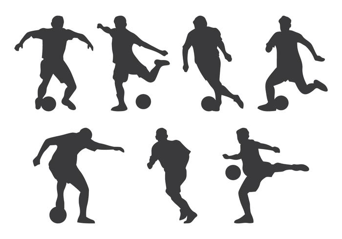 Futsal Speler Silhouet vector