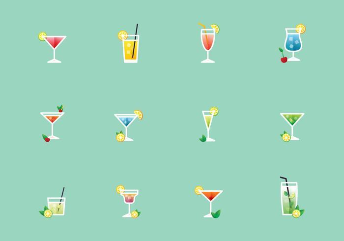 Vectorillustratie Van Cocktails vector
