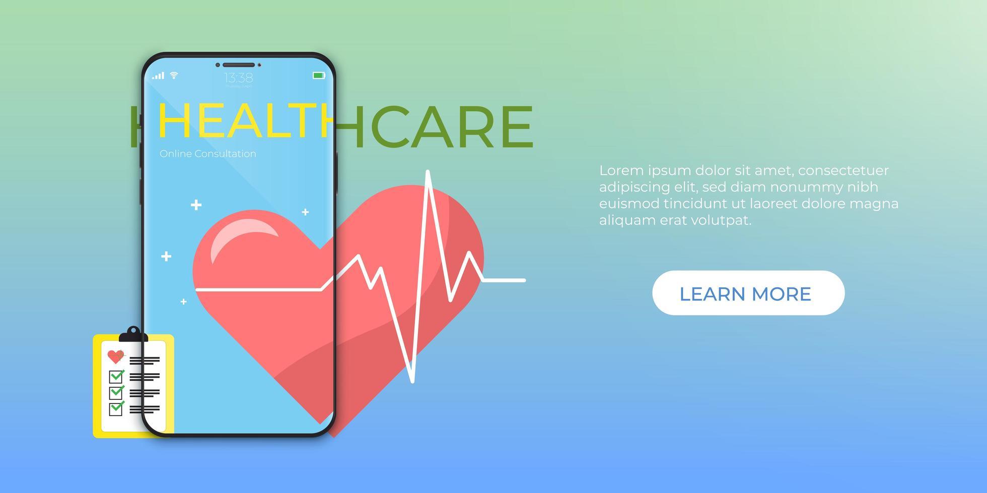 online medische zorg vector