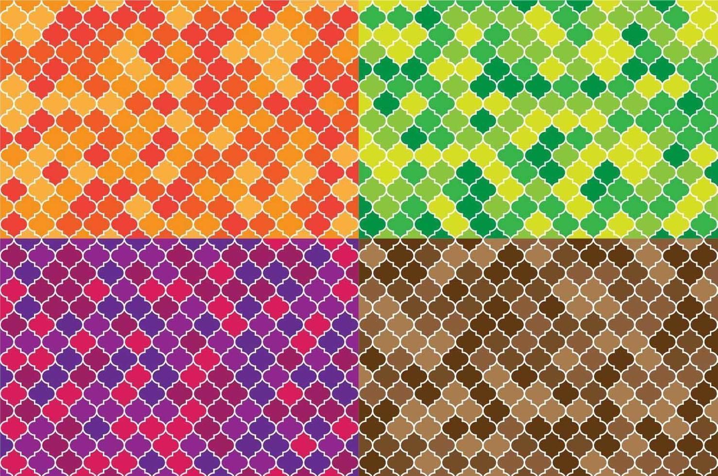 set van Arabische naadloze patronen vector