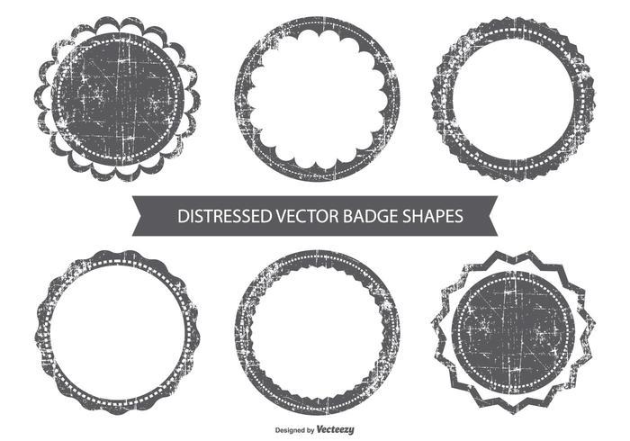 Grunge vector badges