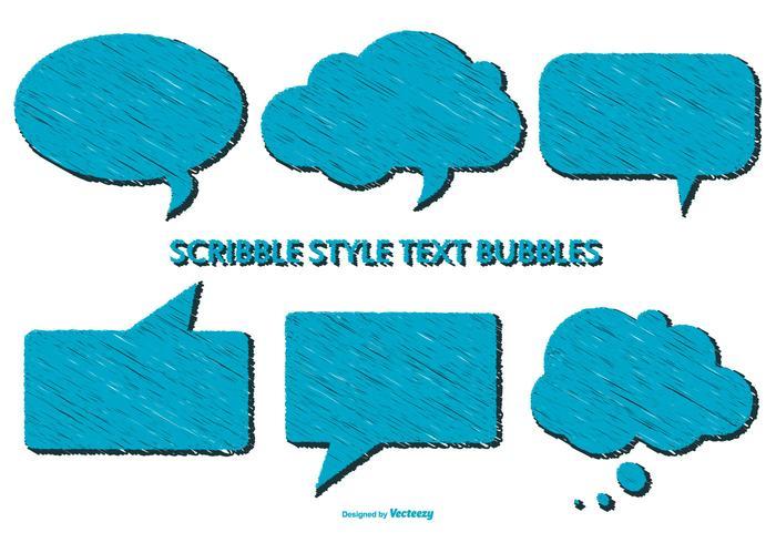 Scribble style speech bubbles vector
