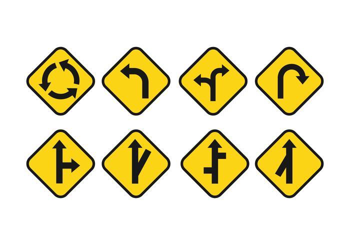 Gratis Road Signs Vector Set