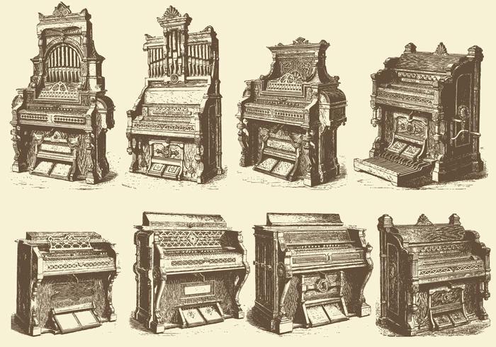 Antieke Pijporganen vector