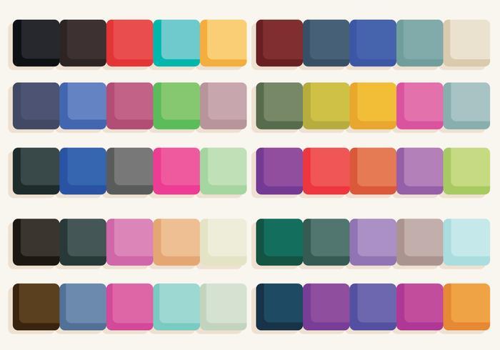 Vector kleurstickers