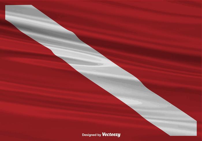 Vector Realistische Dive Vlag Achtergrond