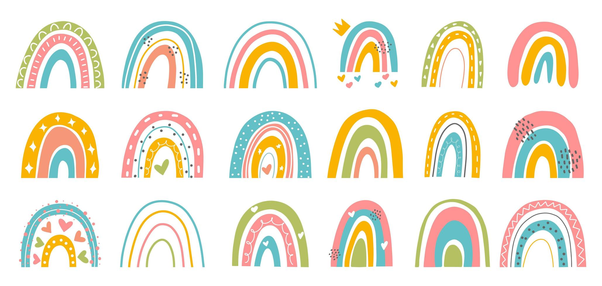 abstracte regenboog set vector