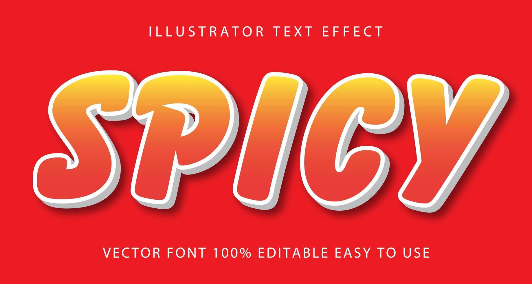 pittig oranje teksteffect vector