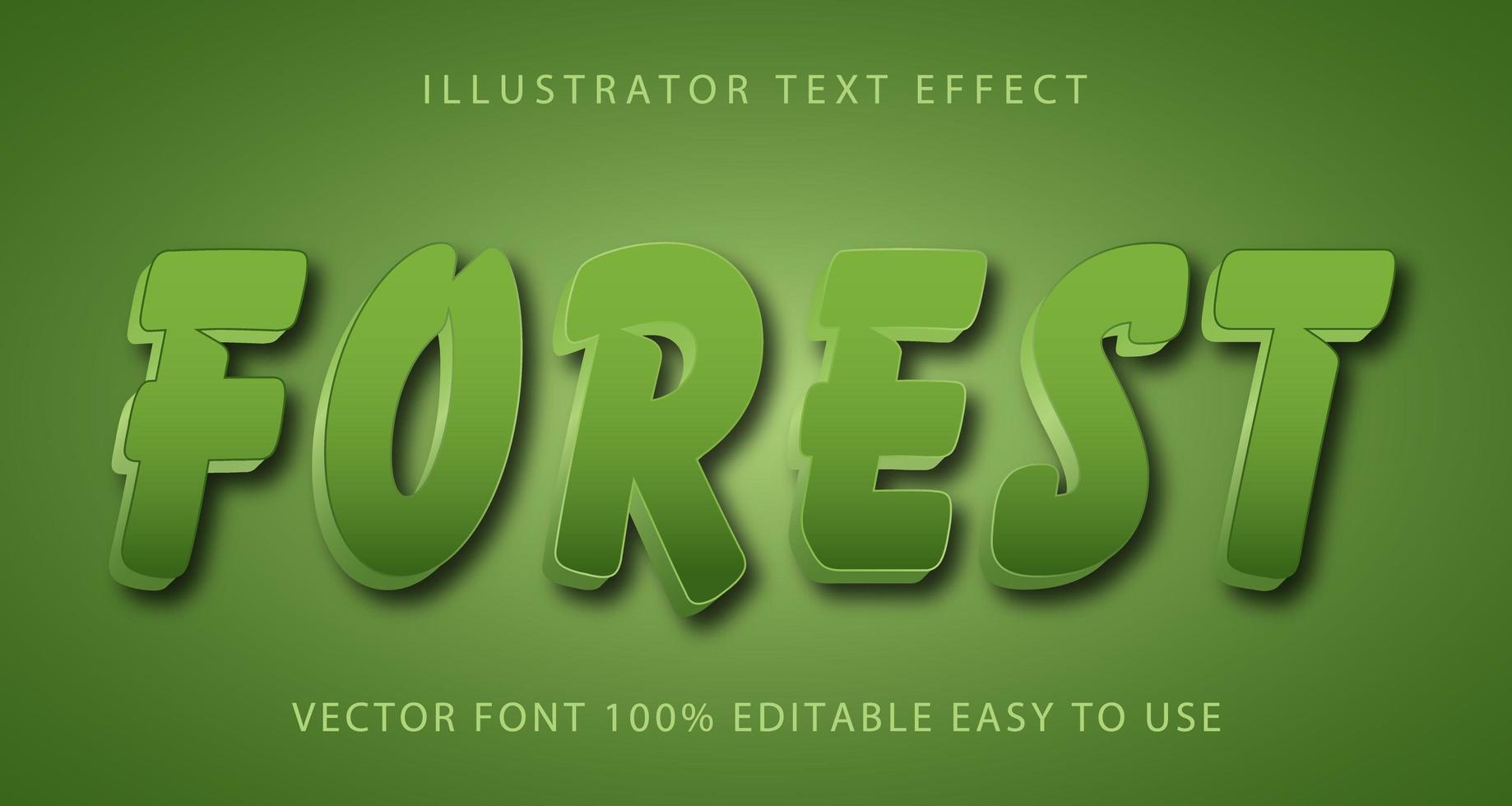 bos penseelstreek teksteffect vector