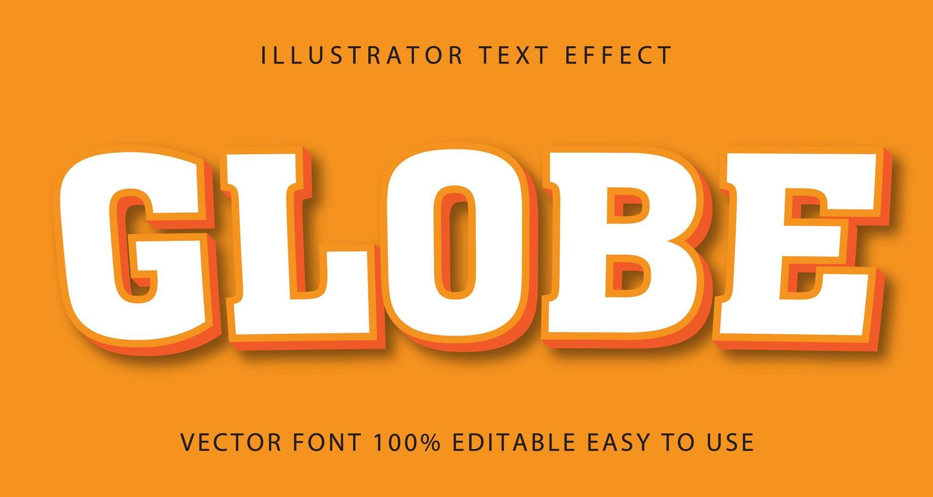 wit, oranje omrand tekst effect vector