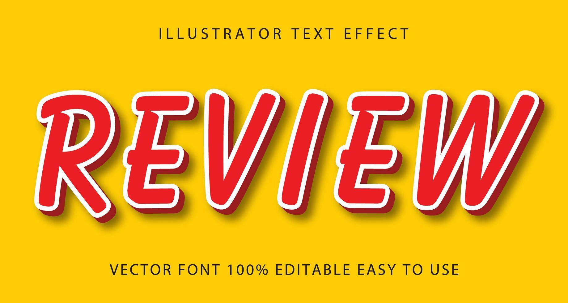 rode, witte lijn dunne review tekst effect vector