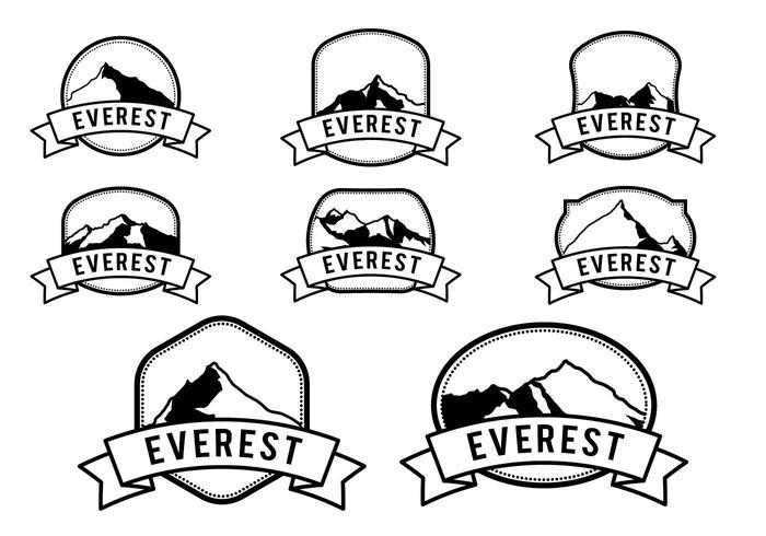 Gratis Hipster Everest Vector Logo Sjabloon