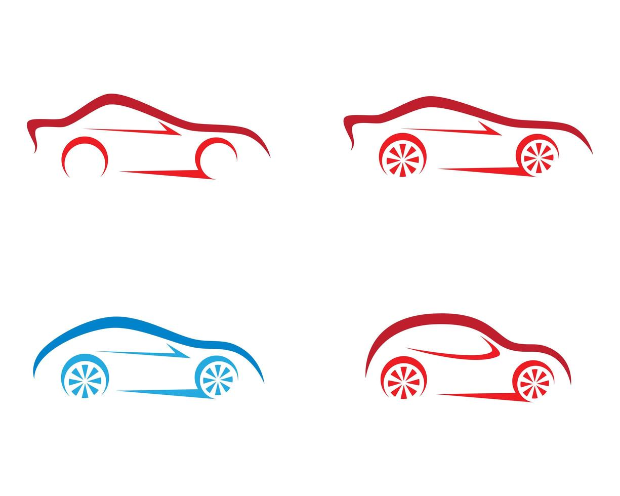 auto overzicht logo set vector