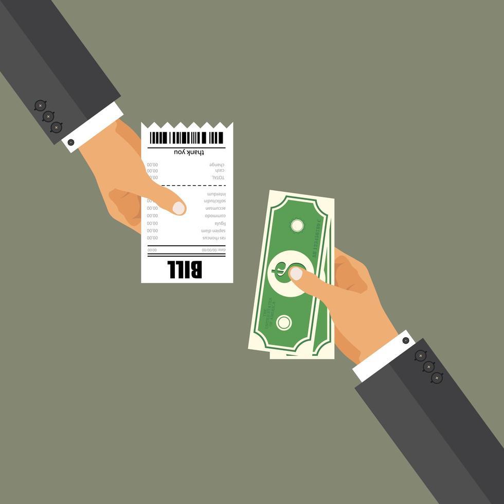 zakenman betalende rekening vector