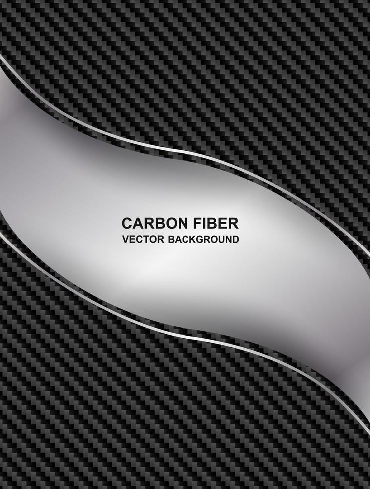 abstracte koolstofvezel curve achtergrond vector
