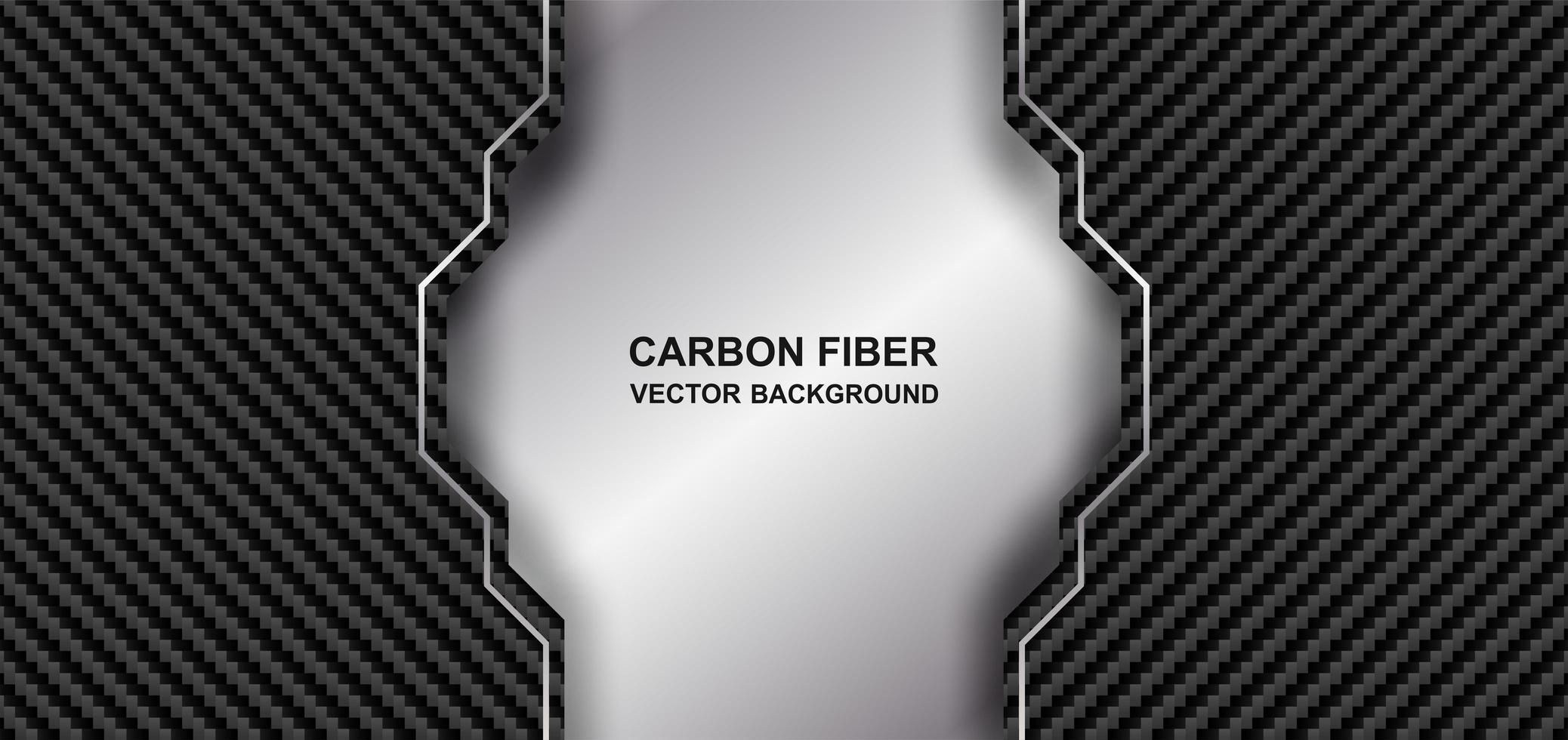 abstracte koolstof metaalvezel achtergrond vector