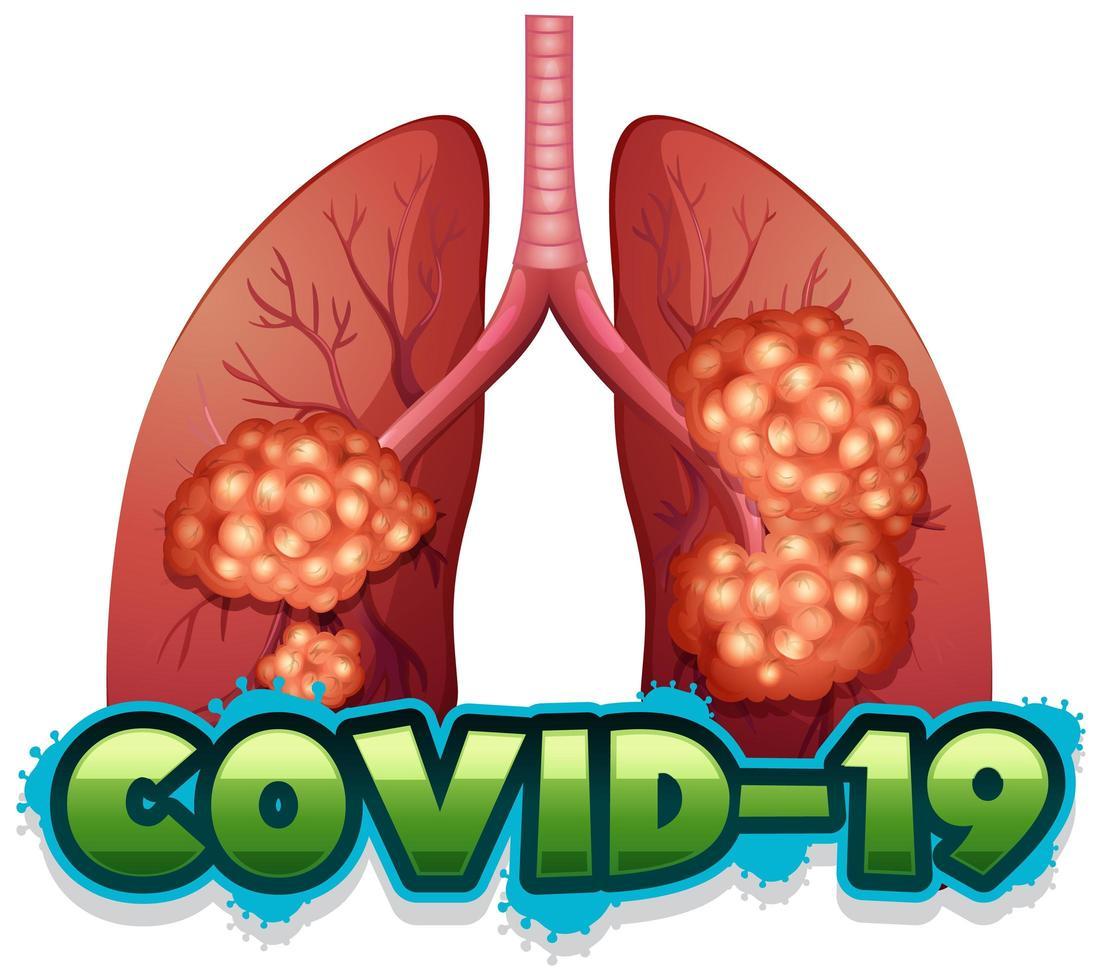 coronavirus thema met ongezonde longen vector