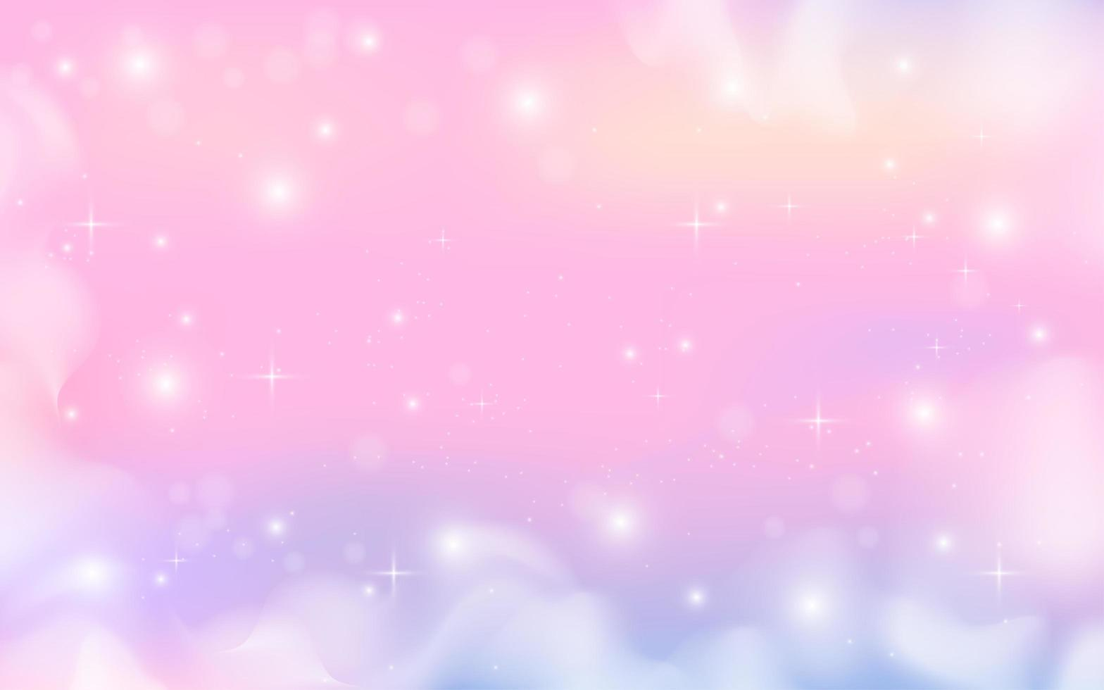 pastelkleur fantasie melkwegontwerp vector