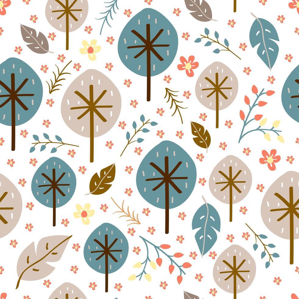 baby naadloos patroon van bloemen vector