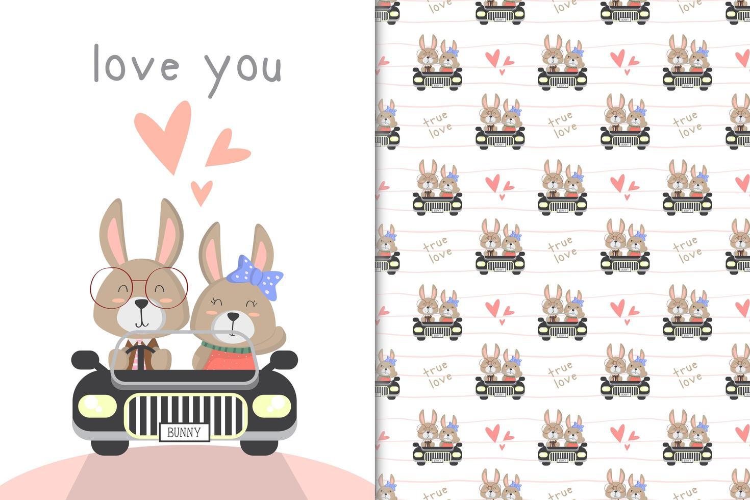 konijntje besturen van een auto vector