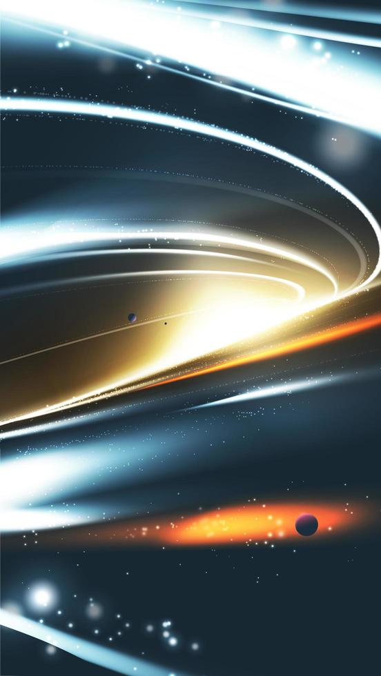 abstract superzwaar zwart gat in vector