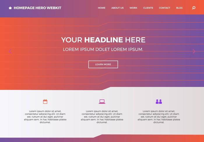 Gratis Homepage Held Webkit 9 vector