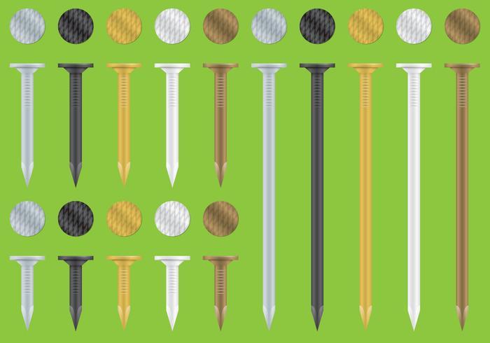 Kleurrijke Nagels vector