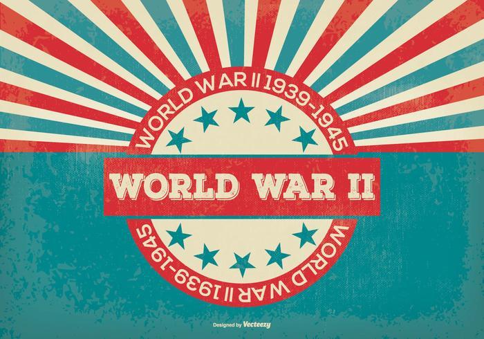 Retro Stijl Wereldoorlog 2 Achtergrond vector