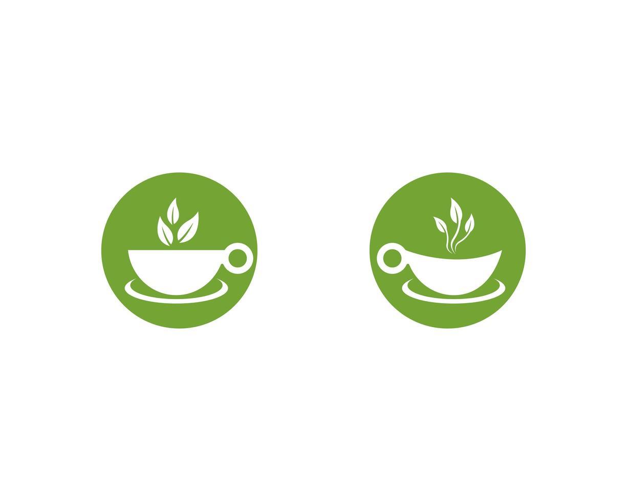 groene thee logo set vector