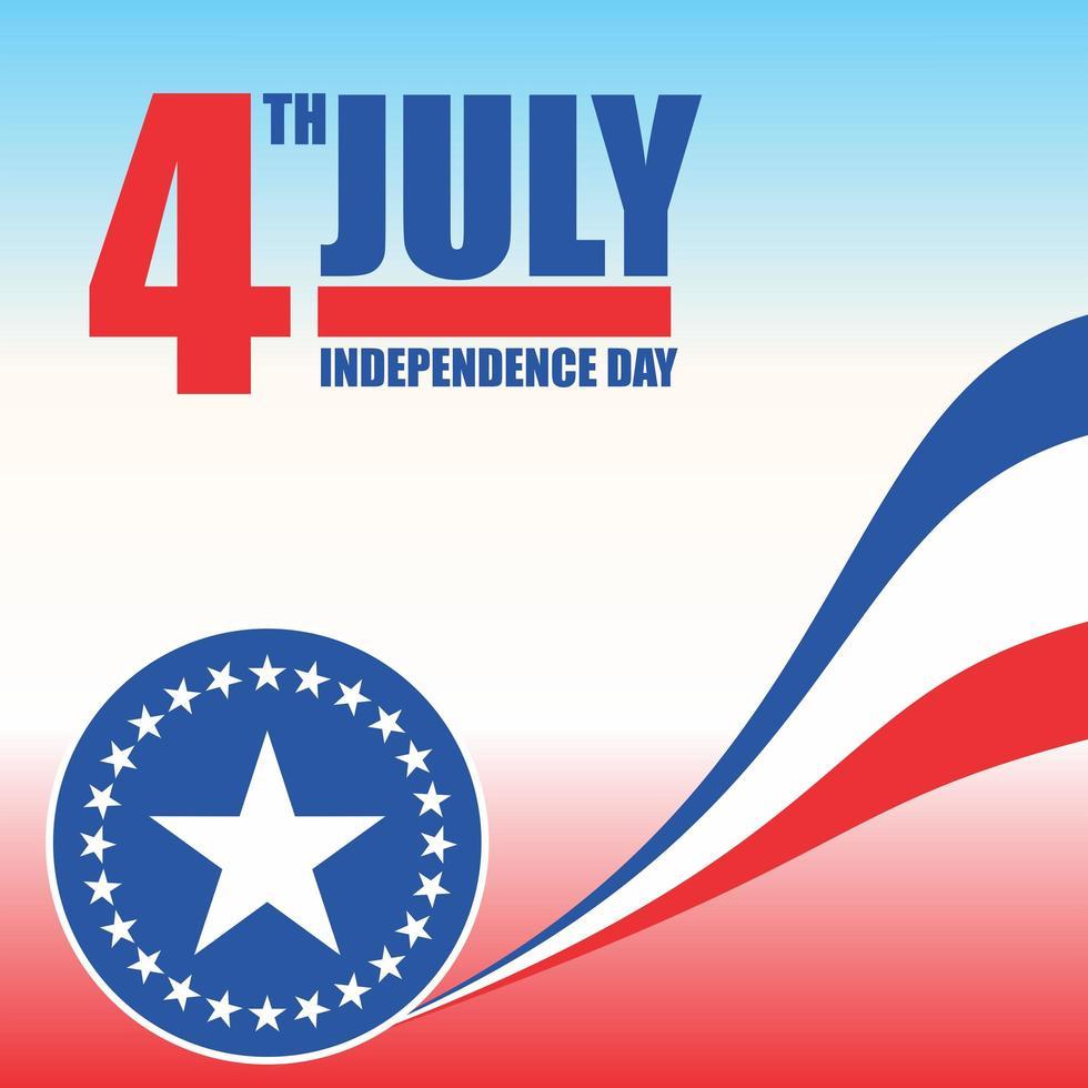 4 juli usa onafhankelijkheidsdag viering poster vector