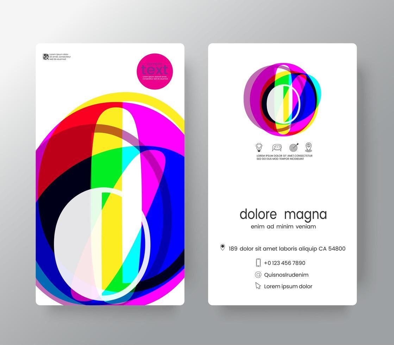 logo nummer 0 sjabloon voor visitekaartjes vector
