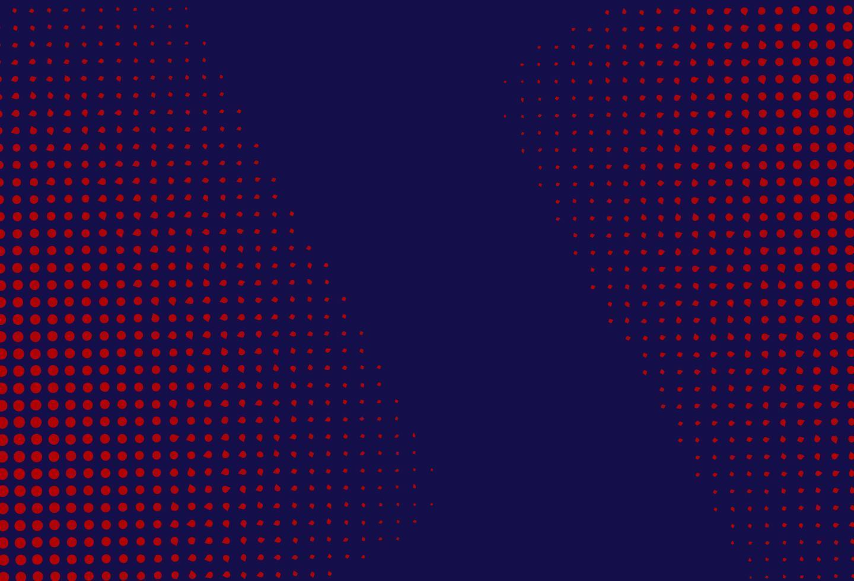 rode en blauwe halftoon achtergrond vector
