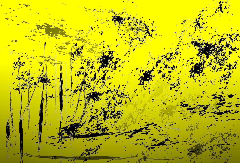 noodlijdende gele achtergrond vector