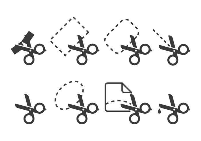 Lint Cutting Icons vector