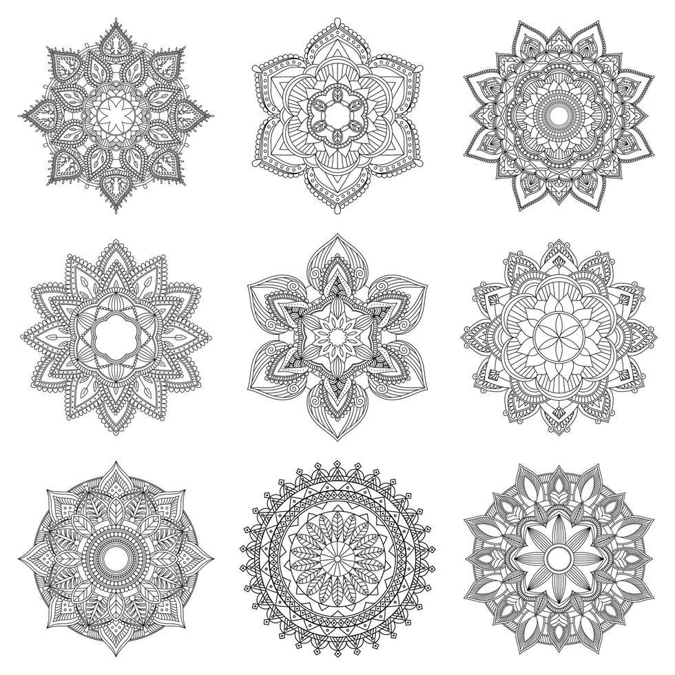 Indiase mandala ontwerp vector