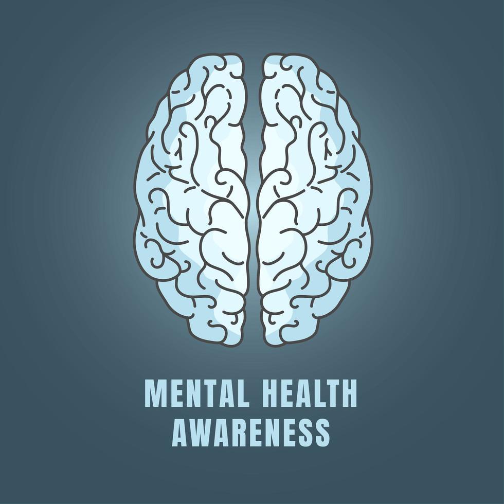 mentale gezondheidsbewustzijn icoon vector