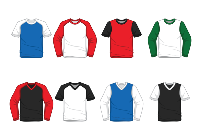 Heren Raglan T-shirt vector