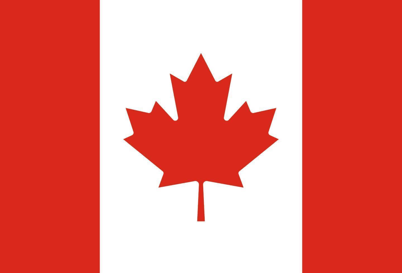 illustratie van de vlag van canada vector