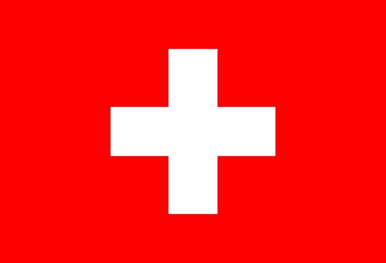 illustratie van de vlag van Zwitserland vector