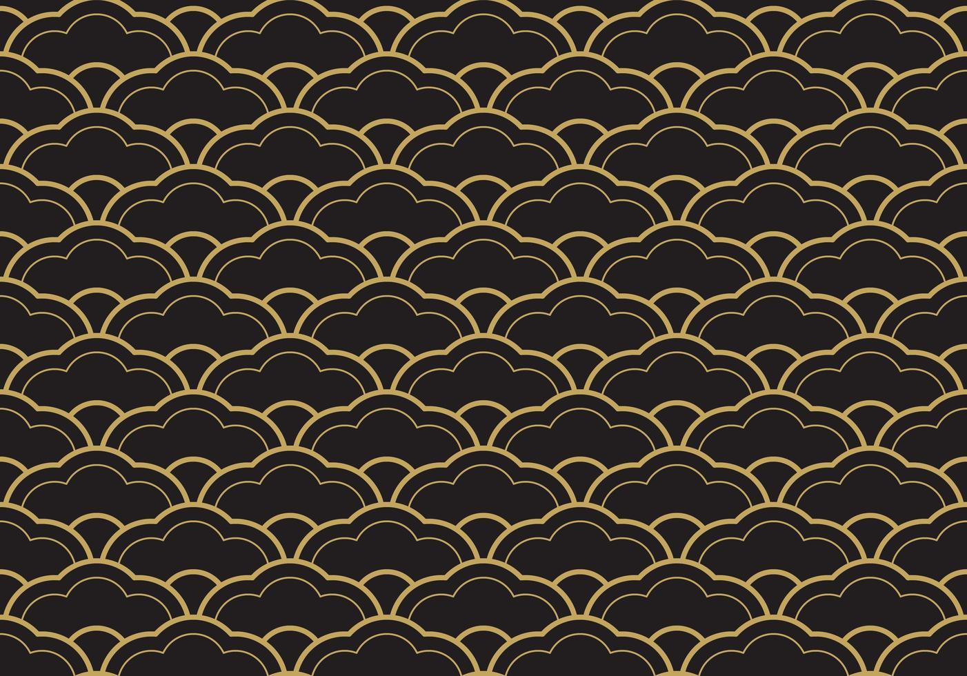 naadloze etnische seigaiha geometrische patroon vector