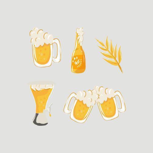 internationale bierdag ingesteld vector