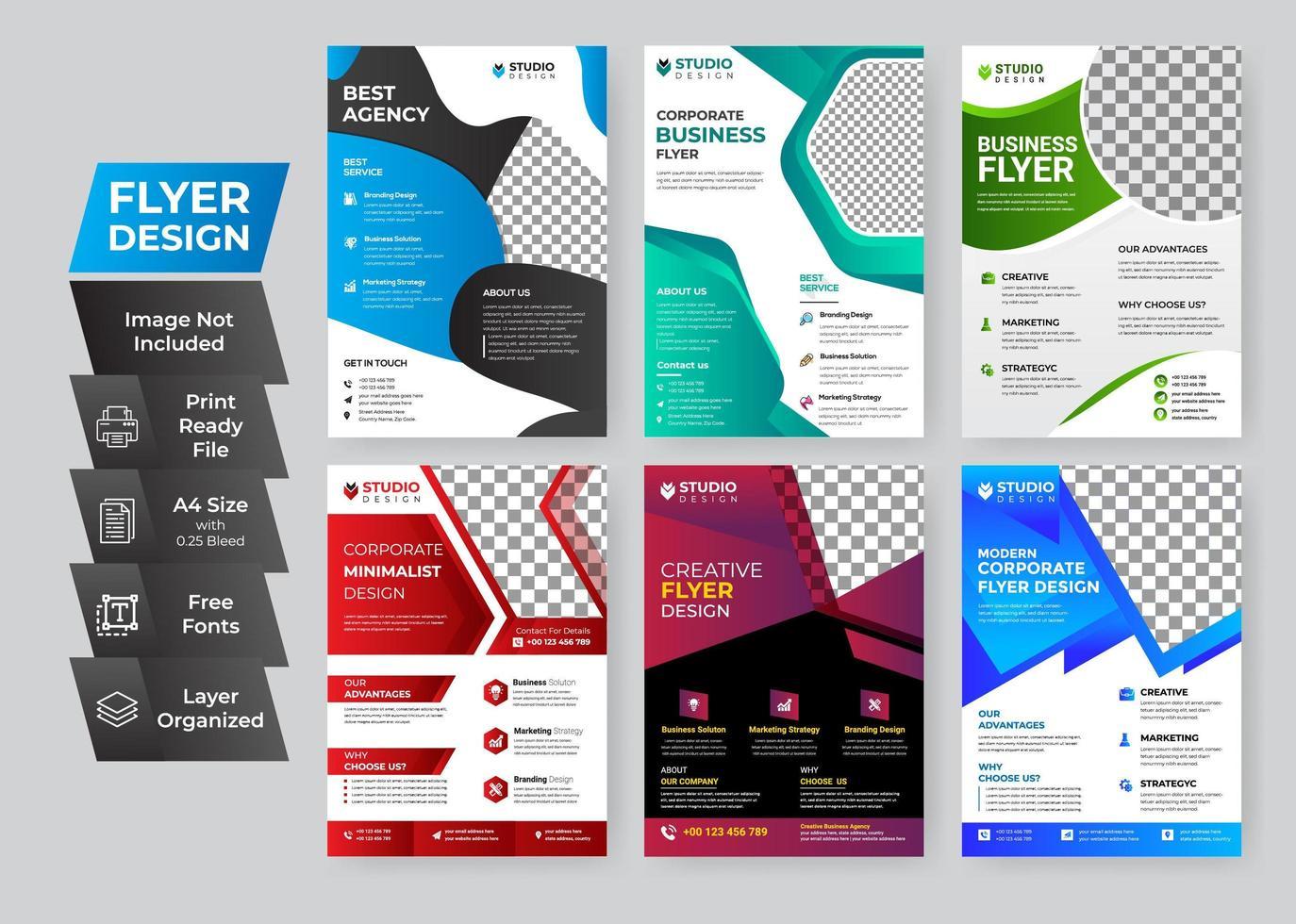 zakelijke flyer set vector