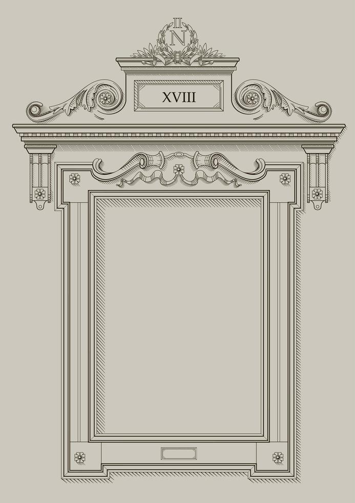 klassieke frame wandopening vector