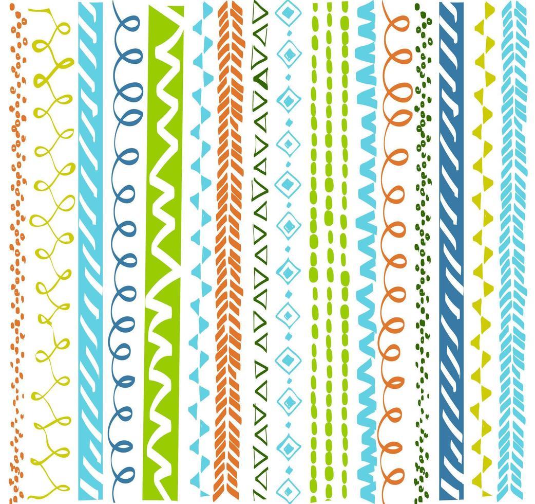 kleurrijk etnisch geometrisch patroon vector