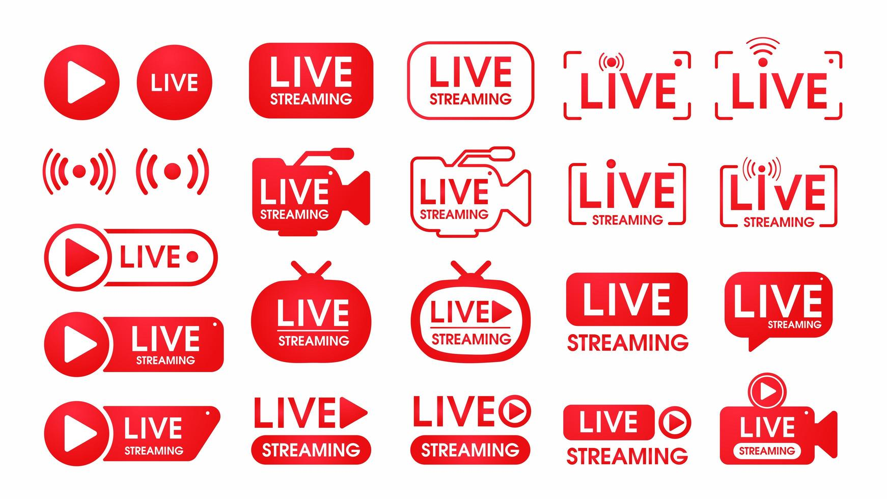 rode live streaming symboolset vector