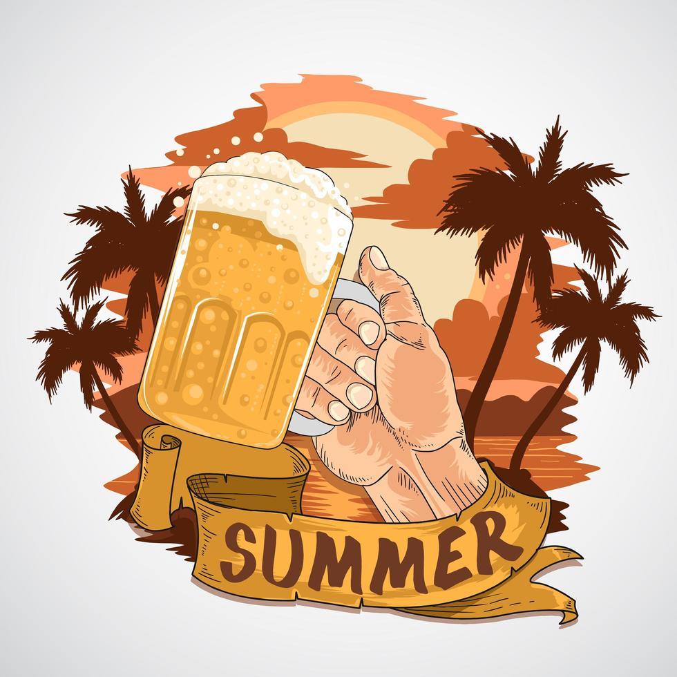 zomer bierfeest ontwerp vector